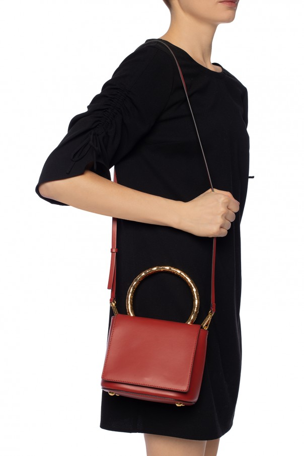 'pannier' shoulder bag with metal handle od Marni